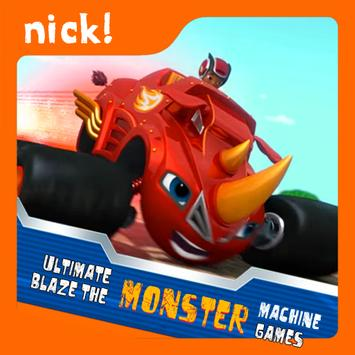Blaze The truck machines monster games poster