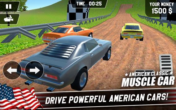 American Classic Muscle Car Cartaz