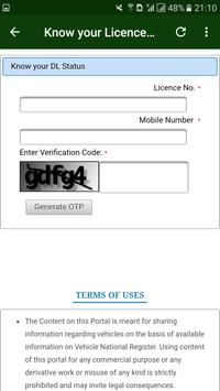 Driving Licence Online Status-India screenshot 2