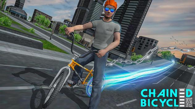 Crazy Chained Bicycle Racing Stunts: Free Games 3D poster