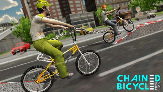 Crazy Chained Bicycle Racing Stunts: Free Games 3D screenshot 1