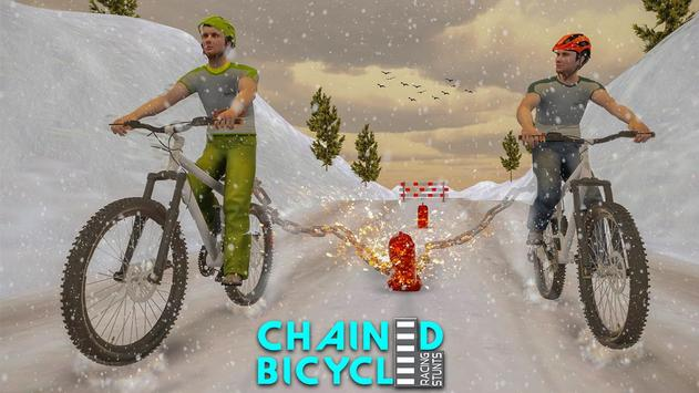 Crazy Chained Bicycle Racing Stunts: Free Games 3D screenshot 2