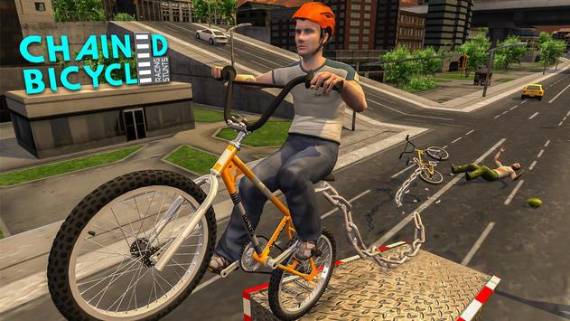 Crazy Chained Bicycle Racing Stunts: Free Games 3D screenshot 3