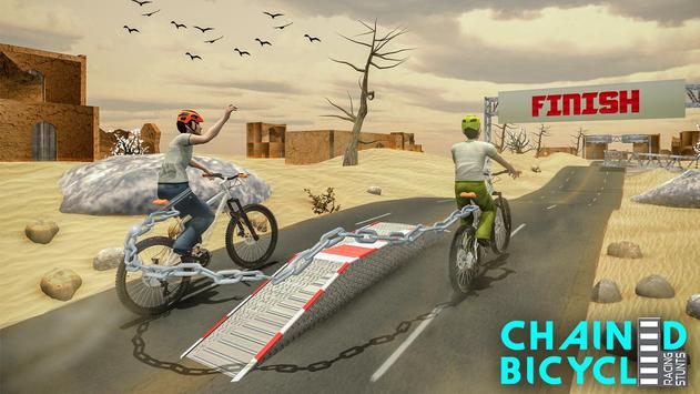 Crazy Chained Bicycle Racing Stunts: Free Games 3D screenshot 4