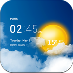 Transparent clock & weather APK