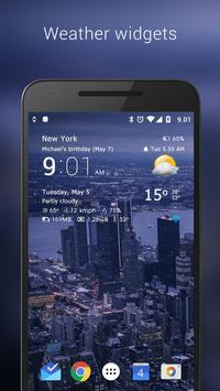 Transparent clock & weather poster