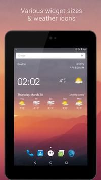 Transparent clock & weather apk screenshot