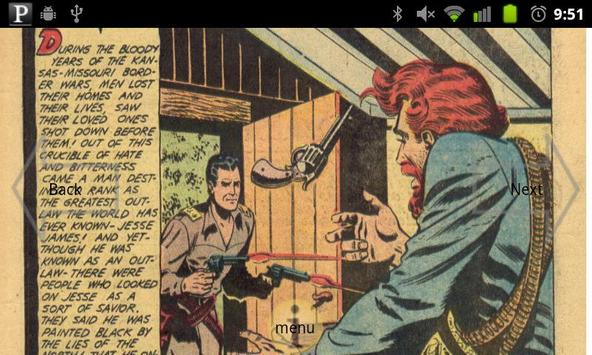 Jesse James Comic Book #1 apk screenshot