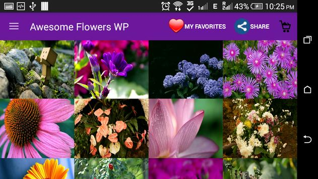 Awesome Flowers Wallpapers screenshot 3
