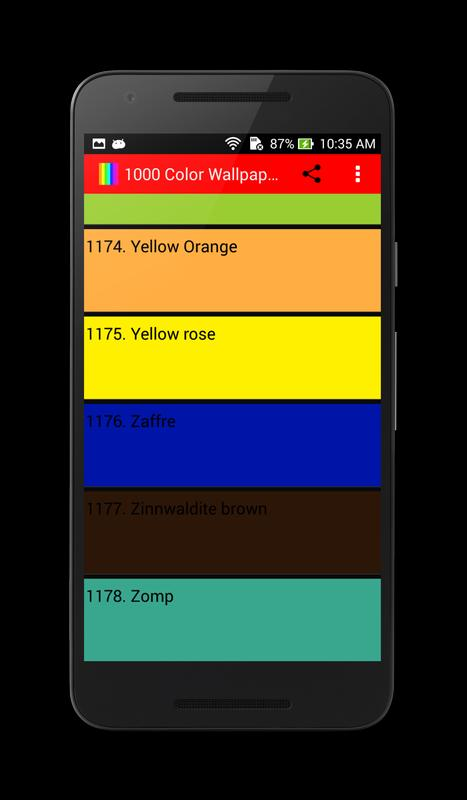 1000 solid color wallpaper apk download free personalization app for android - 1000 color wallpapers ...