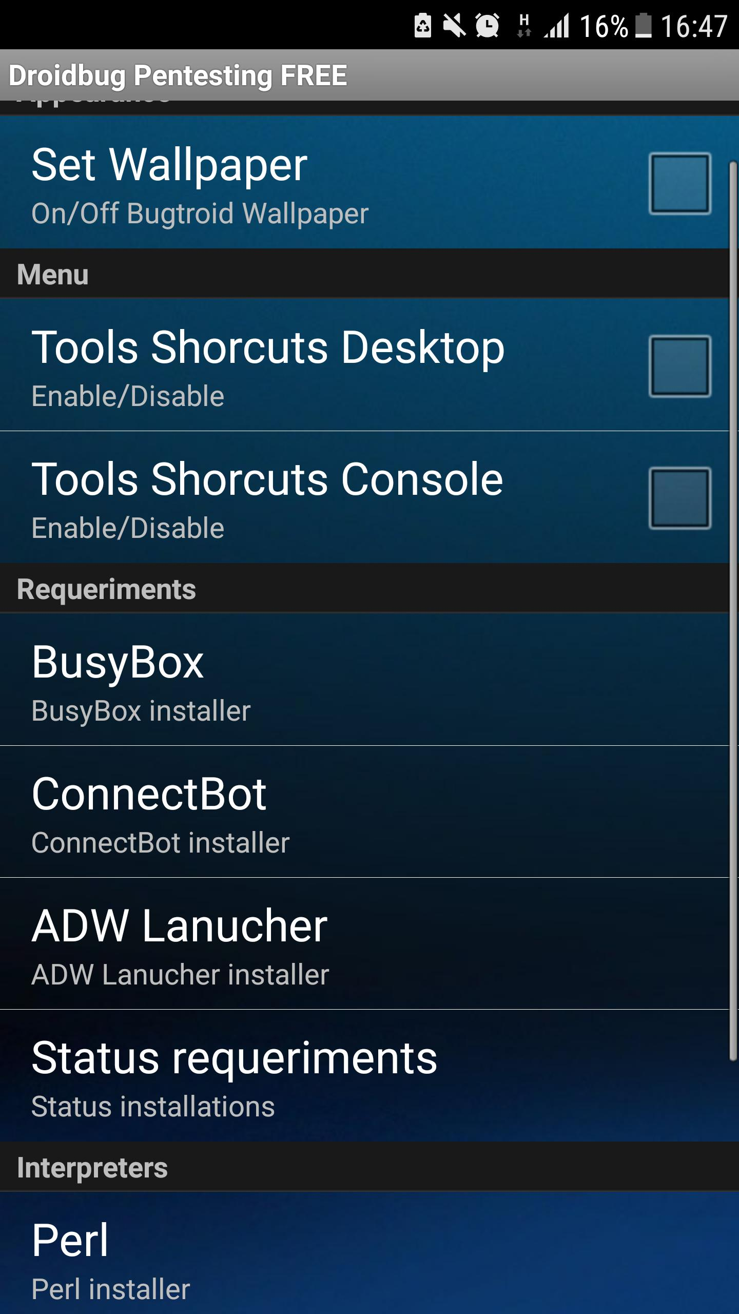 Droidbug Pentesting & Forensic FREE for Android - APK Download
