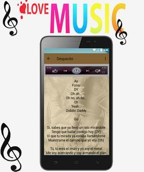Luis fonsi songs despacito (remix) música apk screenshot