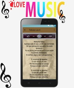 Maluma - Felices los 4 ft. Marc Anthony Songs apk screenshot