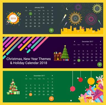 Calendar 2018 - Diary, Holidays and Reminders poster