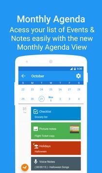 Calendar 2018 - Diary, Holidays and Reminders apk screenshot