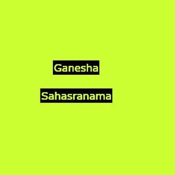 Sri Ganesh Sahasranama poster