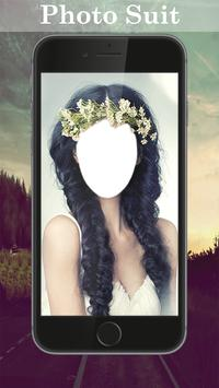 Flowers Hairstyle Photo Editor poster