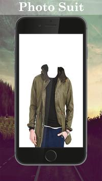 Man Trench Coat Photo Maker poster
