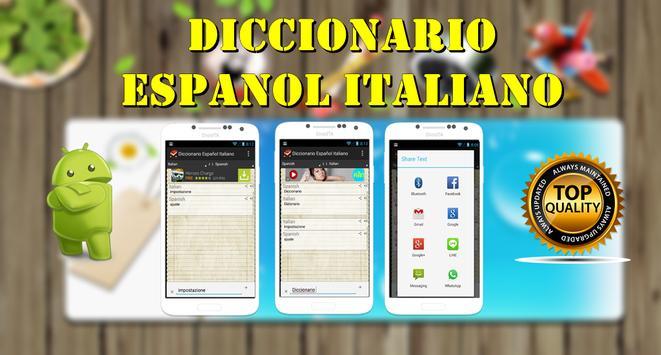 Diccionario Italiano Español poster