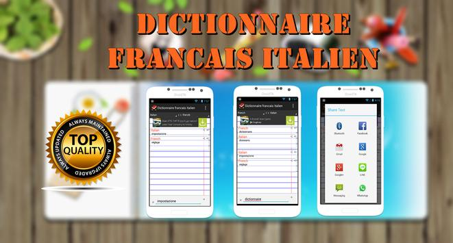 Dictionnaire Francais Italien poster