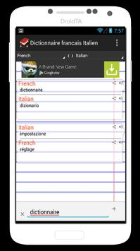 Dictionnaire Francais Italien screenshot 2