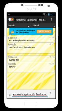 Traducteur Espagnol Francais apk screenshot