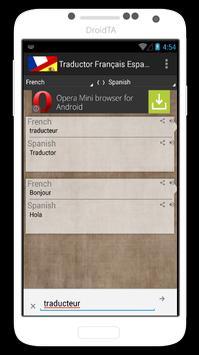 Traductor Français Español apk screenshot