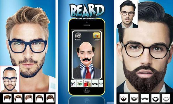Man Face Editor App:Cool Beard,Hairstyle,Mustache poster