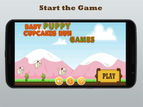 Baby Puppy Cupcakes Run Games poster