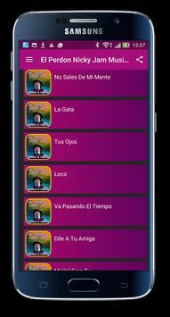 Nicky Jam Musica & Letras apk screenshot