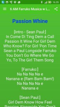 6 AM Farruko Musica y Letras apk screenshot