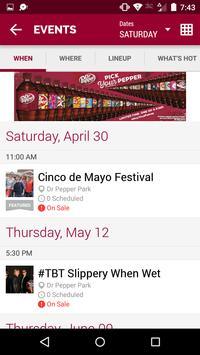 Dr Pepper Park Roanoke Events apk screenshot