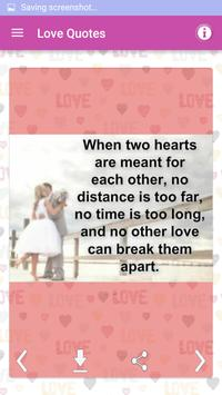 Love Pictures Romantic Quotes screenshot 3
