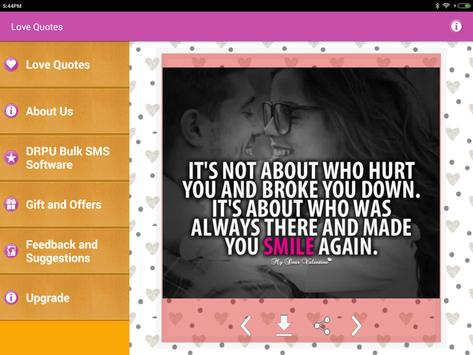 Love Pictures Romantic Quotes screenshot 17