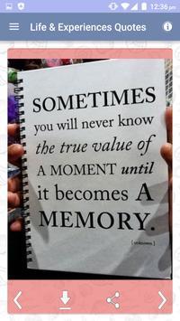 Life Experiences Quotes Images apk screenshot