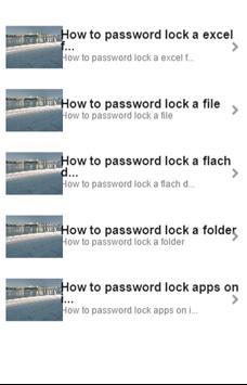 How to Password Lock poster