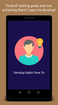 Develop Habit: How To poster