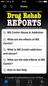 MS Contin Addiction & Abuse poster