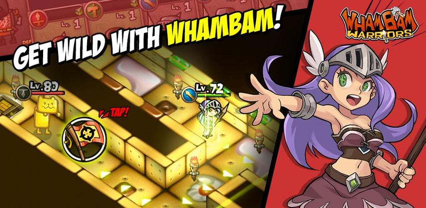 WhamBam Warriors - Puzzle RPG APK