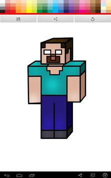 Minecraft Coloring poster