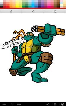 Ninja Turtles Coloring screenshot 3
