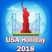 USA Holiday List 2018 icon
