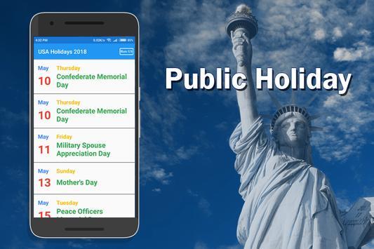 USA Holiday List 2018 screenshot 3