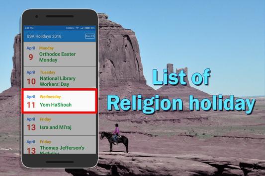 USA Holiday List 2018 screenshot 2