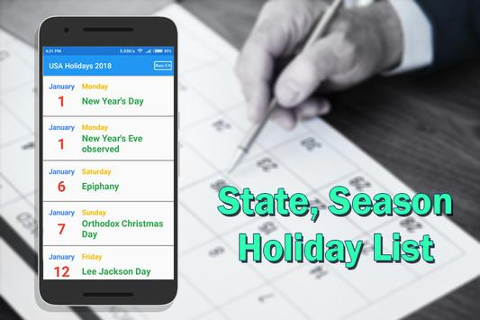 USA Holiday List 2018 screenshot 4