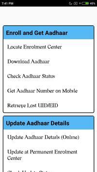 Adhar Card Update poster
