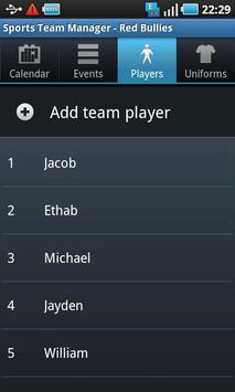 Sports Team Manager Lite screenshot 4