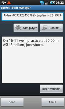 Sports Team Manager Lite screenshot 7
