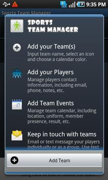 Sports Team Manager Lite poster