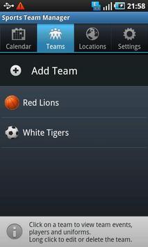 Sports Team Manager Lite screenshot 2